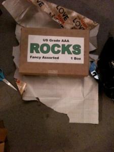 My husband gave me a box of rocks.
