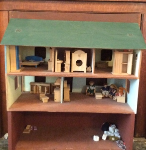 $15 wooden doll house. It came without the furniture, but we added that a room at a time each Christmas and birthday. My kids played the heck out of this for a good chunk of their childhood years.
