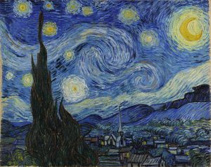 The Starry Night, Vincent Van Gogh.