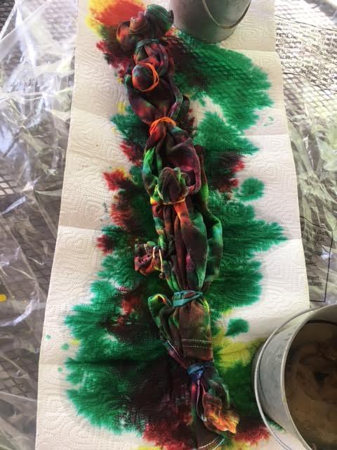Tie Dye in progress